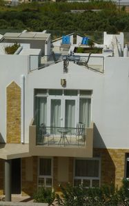 View of 15P apartment, including back balcony
