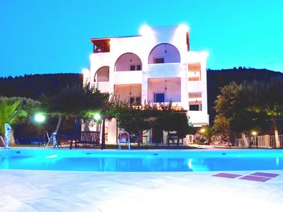 Photo for Large group villa with pool, in Attica, Marathon, Sesi beach