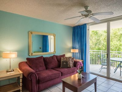 Photo for Cozy, dog-friendly suite with balcony, shared hot tub/pool, and private parking!