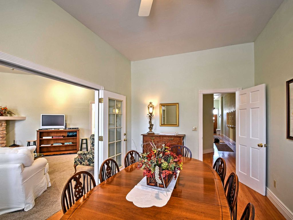 Indulge In A Home Cooked Meal Around This Inviting Dining Room Table