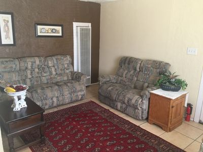 Photo for 2 Private BR 1 BA APT Sofa bed in Living Room -  Sleeps 4