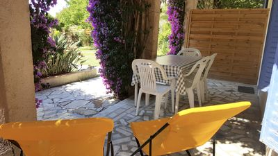 Photo for 4p studio, large terrace, beach walk, quiet, wifi and parking