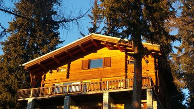 Photo for large traditional chalet , 50 m from teleski