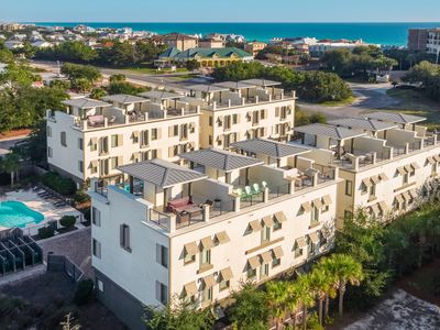 Photo for NEW LISTING- 30a townhome, REMODELED pool, rooftop, 5 min walk to the beach!