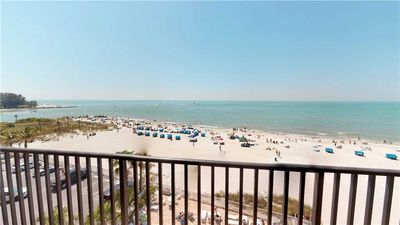 Photo for Top Floor Direct Beach and Gulf View Balcony  Sandy Shores #502- Sleeps 4. Free Wifi