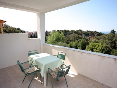 Photo for Two bedroom apartment with terrace and sea view Suha Punta (Rab)