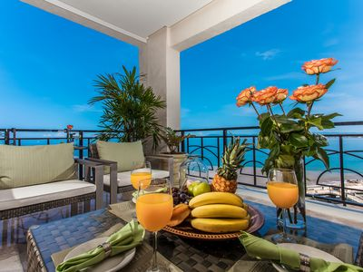 Photo for Luxury Beach Front Condominium with Fabulous Views of the Mountain and the Ocean