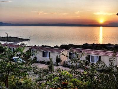 Photo for Mobile home with great view, situated in holiday park by the sea