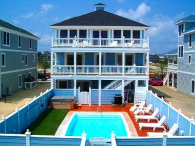 Photo for Special 10% Off May-Aug Open Wks, 8BR Oceanfront, Pool, Elev., Hcap/Dog Frdly