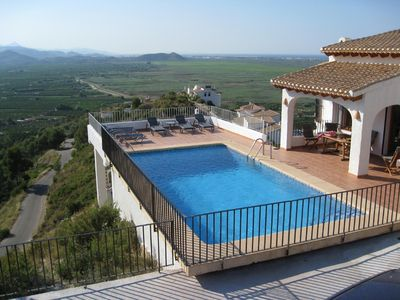 Photo for Villa with Private Pool and Spectacular Sea & Mountain Views near Pego& Denia Co