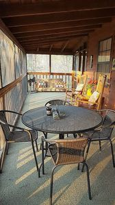 Spacious Screen Room with Swing Overlooking Private Yard and Patio w/ Fire Pit