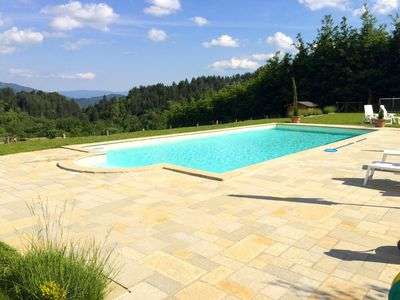 Photo for Beautifully renovated spacious house, large  private pool, great views, WIFI!