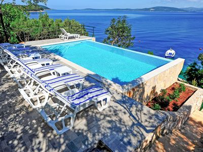 Photo for This 7-bedroom villa for up to 10 guests is located in Solta / Šolta and has a private swimming pool