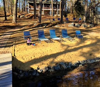 Photo for New Listing! Sandy Beach, Main Lake, Deep Water, Pet Friendly, Boathouse!