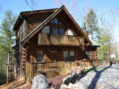 Photo for NEW to HomeAway! Mountain Retreat with 2 private lakes ~ Waterfall ~ Broad River ~ Lake Lure