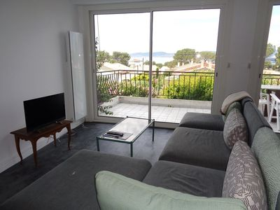 Photo for Apartment sea view, for 4/6 people, near town and beach, quiet area