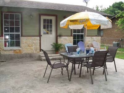 Relax on the spacious patio