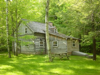 Photo for Log Cabin on Private 280 acres. Swimming, Mtn biking, Hiking, x-country Skiing