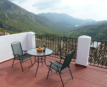Large private roof terrace with amazing views over the valley