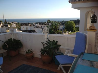 Photo for SUMMER RENTAL Homely insight protected in a quiet area. with pool and sea views