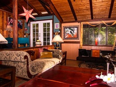 Photo for Quiet, artsy, romantic eco-home on five acre farm in North Kohala