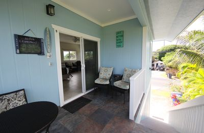 20 steps to the studio. Private entrance and lanai