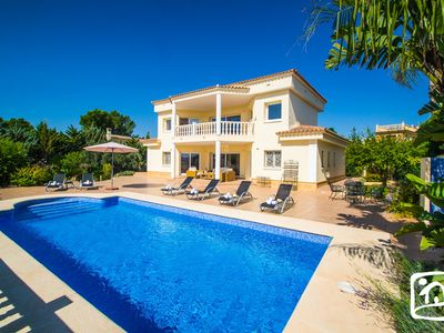 Photo for 4 bedroom Villa, sleeps 7 in Moraira with Pool, Air Con and WiFi