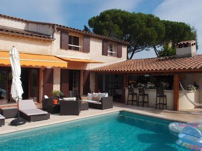 Photo for BEAUTIFUL PROVENCAL BASTIDE in peace, with swimming pool, Mandelieu beaches, 1200 m