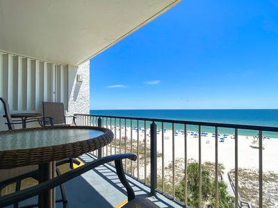 Photo for Panoramic Gulf Front Views - Beautifully Furnished - Best Location on Beach