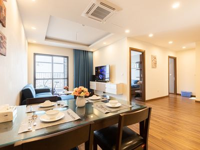 Photo for Free WiFi/ 2 bedrooms/ Direct-Sunlight/ Eazy Buses/NetFix/ Swimming pool