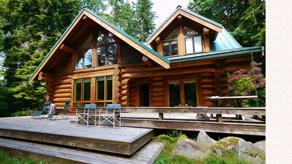 New rental luxury log cabin on large seclu vrbo for Large luxury log homes