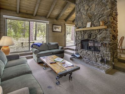Photo for Cabin Feel, Close to SHARC And A Cozy Stone-Faced 360 Fireplace!