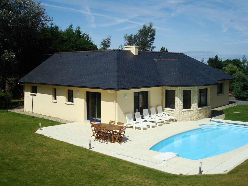 Villa Of Full Feet With Sea View And Heated Pool