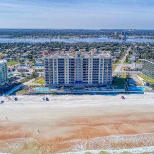 Ariel view of the condo from the ocean