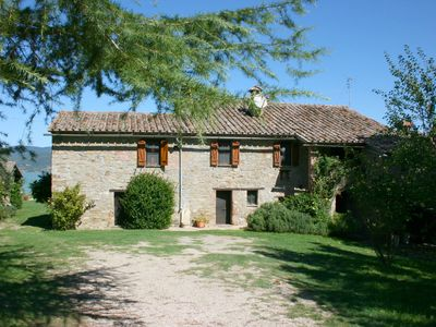 Photo for Old independent farmhouse  with private pool and garden, internet connection. Panoramic view on the