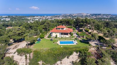 Photo for Luxury villa on top of a with fantastic views of the Aegean Sea