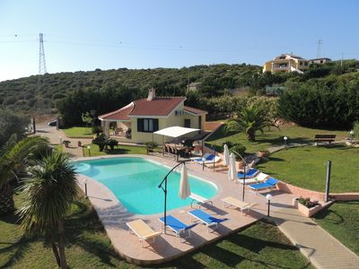 Photo for Villa La Rocada, 13 metres swimming pool with jacuzzi, garden, kids play area