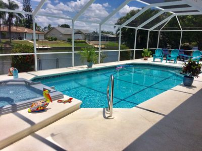 Photo for Relax & enjoy the outdoors with heated pool & Jacuzzi - Fresh Water Canal - WIFI