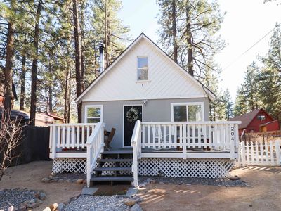 Photo for Little Bear: Sweet Cabin with Modern Flair! Internet! Fireplace! Fenced Backyard!