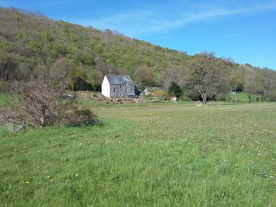 Occupying a beautiful location in the Aeron Valley