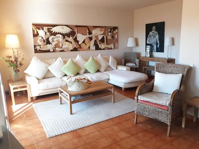 Photo for Lovely apartment with pool and parking close to the beach