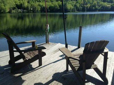 Photo for Lakefront chalet near Tremblant