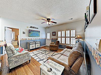 Living Area - Welcome to Myrtle Beach! This beach condo is professionally managed by TurnKey Vacation Rentals.