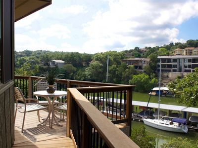 Photo for Waterfront Bungalow steps from Lake Travis, pool & hot tub, next to marina (#6)