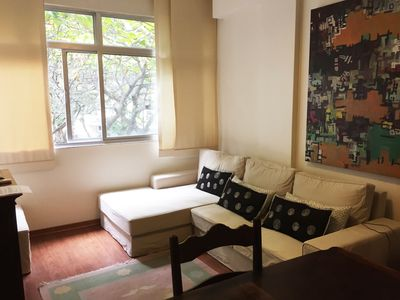 Photo for Well located, comfortable and airy Apt of 2 Q in Ipanema
