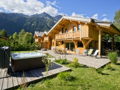 Photo for Chalet Les Drus - 4 bedroom modern chalet in stunning tranquil setting