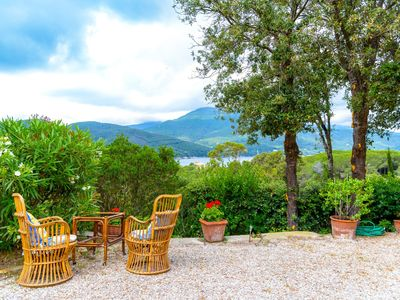 Photo for Nice house for 4/5 persons surrounded by the greenery and overlooking the gulf of Procchio