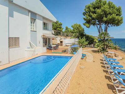 Photo for Seafront villa w/ incredible views and gated pool & table tennis, good for young families