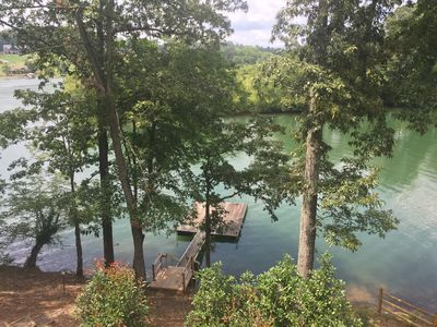 Photo for 4 BR Lakefront Home in a Quiet Cove with Swim Dock and No Boat Traffic!