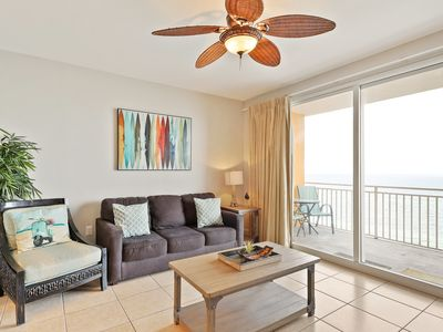 Photo for Gulf-front condo w/ sunset views, beach access & shared pools/hot tub/lazy river